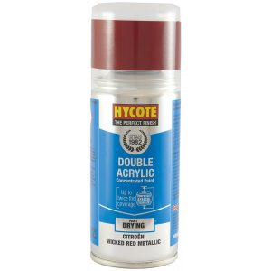 Hycote Citroen Wicked Red Met Double Acrylic Spray Paint 150Ml Xdct503-0
