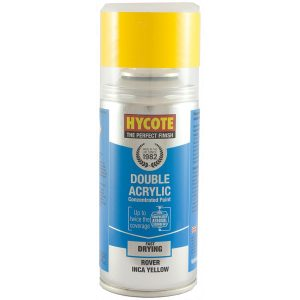 Hycote Rover Inca Yellow Double Acrylic Spray Paint 150Ml Xdrv703-0