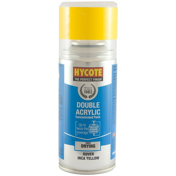 Hycote Rover Inca Yellow Double Acrylic Spray Paint 150Ml Xdrv703-0