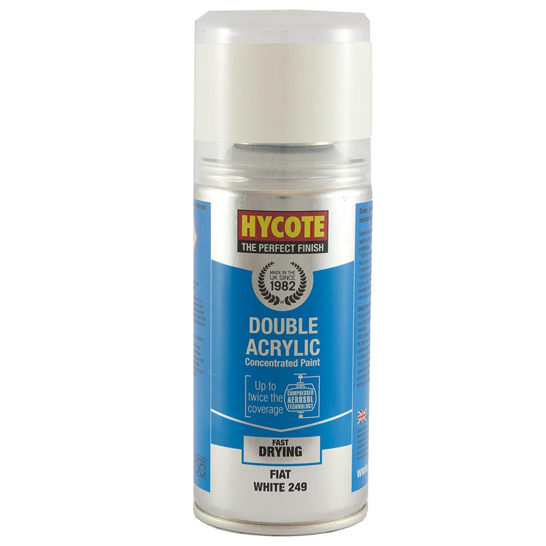 Hycote Fiat White 249 Double Acrylic Spray Paint 150Ml Xdft604-0