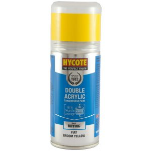 Hycote Fiat Broom Yellow Double Acrylic Spray Paint 150Ml Xdft702-0