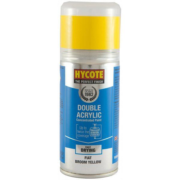 Hycote Fiat Broom Yellow Double Acrylic Spray Paint 150Ml Xdft702-0