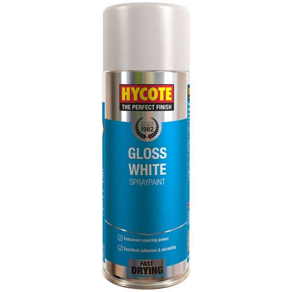 Hycote Gloss White Spray Paint 400Ml Xuk032-0