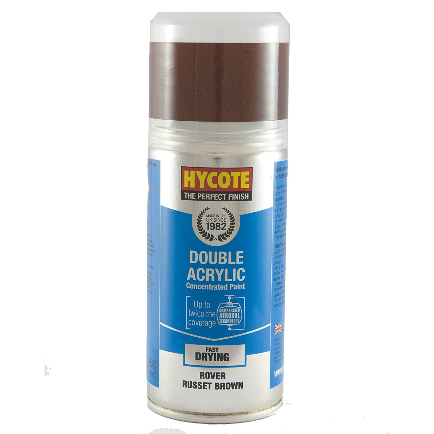 Hycote Rover Russet Brown Double Acrylic Spray Paint 150Ml Xdrv106-0