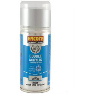 Hycote Rover Silver Leaf Metallic Double Acrylic Spray Paint 150Ml Xdrv406-0
