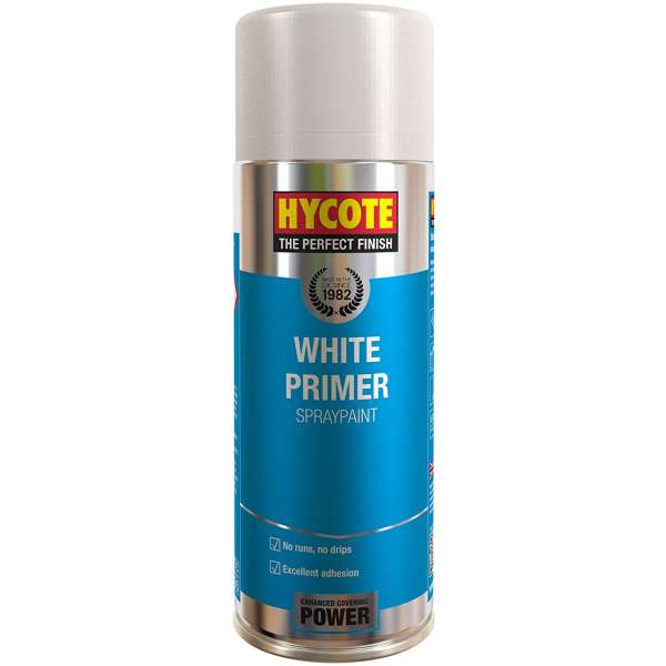 Hycote White Primer Spray Paint (Pack Of 12) 400Ml Xuk0302-0