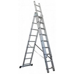 Sealey ACL3 Aluminium Extension Combination Ladder 3x9 EN 131-0