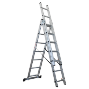 Sealey ACL307 Aluminium Extension Combination Ladder 3x7 EN 131-0