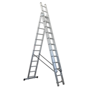Sealey ACL312 Aluminium Extension Combination Ladder 3x12 EN 131-0