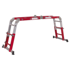 Sealey AFPL2 Aluminium Multipurpose Ladder EN 131 Adjustable Height-0