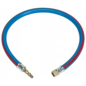 """Sealey AH2R/38 Air Leader Hose 600mm x Ø10mm with Tailpiece & 1/4""""BSP Union-0"""
