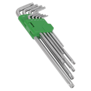 Sealey AK7163 Security TRX-Star Key Set 9pc Extra-Long-0