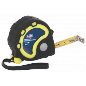 Sealey AK988 Rubber Measuring Tape 3m(10ft) x 16mm Metric/Imperial-0