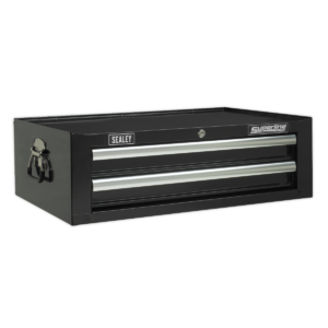 Sealey AP26029TB Mid-Box 2 Drawer with Ball Bearing Slides - Black-0