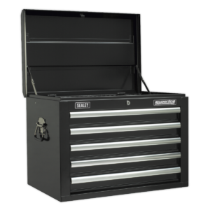 Sealey AP26059TB Topchest 5 Drawer with Ball Bearing Slides - Black-0
