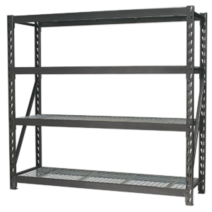 Sealey AP6572 Heavy-Duty Racking Unit with 4 Mesh Shelves 640kg Capacity Per Level 1956mm-0