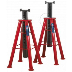 Sealey AS10H Axle Stands (Pair) 10tonne Capacity per Stand High Level-0