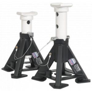 Sealey AS7S Axle Stands (Pair) 7tonne Capacity per Stand Short-0
