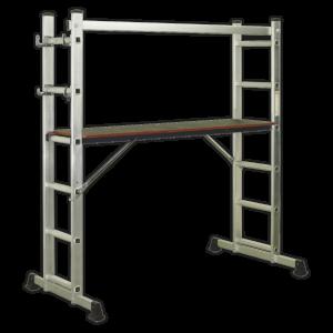 Sealey ASCL2 Aluminium Scaffold Ladder 4-Way EN 131-0