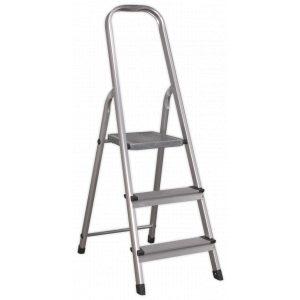 Sealey ASL3S Aluminium Step Ladder 3-Tread EN 131-0