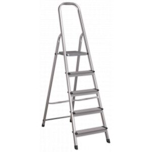 Sealey ASL5 Aluminium Step Ladder 5-Tread EN 131-0