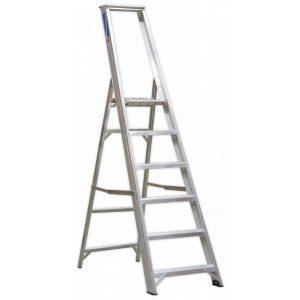 Sealey AXL6 Aluminium Step Ladder 6-Tread Industrial BS 2037/1-0