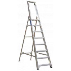 Sealey AXL8 Aluminium Step Ladder 8-Tread Industrial BS 2037/1-0