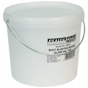 Sealey B5KG Shot Blasting Beads Glass 5kg Plastic Tub-0