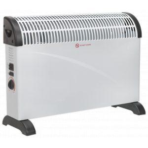 Sealey CD2005T Convector Heater 2000W 3 Heat Settings Thermostat Turbo Fan-0