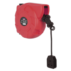 Sealey CRM101 Cable Reel System Retractable 10m 1 x 230V Socket-0
