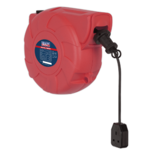 Sealey CRM251 Cable Reel System Retractable 25m 1 x 230V Socket-0