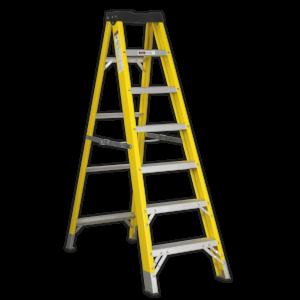 Sealey FSL7 Fibreglass Step Ladder 6-Tread EN 131-0