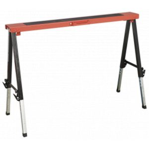 Sealey FTAL1 Fold Down Trestle Adjustable Legs 150kg Capacity-0