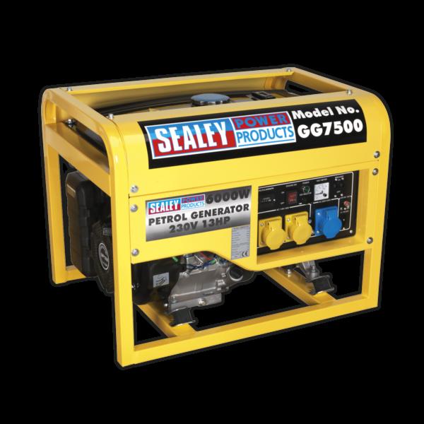 Sealey GG7500 Generator 6000W 110/230V 13hp-0