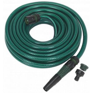 Sealey GH15R/12 Water Hose 15mtr with Fittings-0