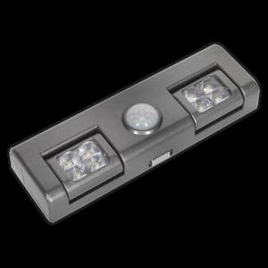 Sealey GL93 Auto Light 1W COB LED with PIR Sensor 3 x AA Cell-0