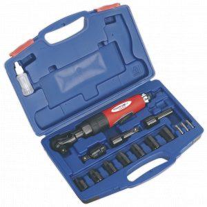 "Sealey GSA21KIT Air Ratchet Wrench Kit 1/2""Sq Drive-0"