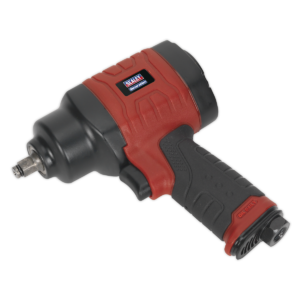 """Sealey GSA6000 Composite Air Impact Wrench 3/8""""Sq Drive Twin Hammer-0"""