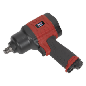 """Sealey GSA6002 Composite Air Impact Wrench 1/2""""Sq Drive Twin Hammer-0"""