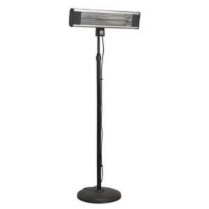 Sealey IFSH1809R High Efficiency Carbon Fibre Infrared Patio Heater 1800W/230V with Telescopic Floor Stand-0