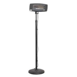 Sealey IFSH2003 Infrared Quartz Patio Heater 2000W/230V with Telescopic Floor Stand-0