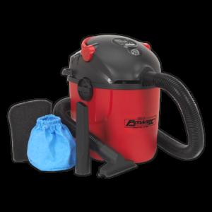 Sealey PC100 Vacuum Cleaner Wet & Dry 10L 1000W/230V-0