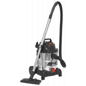 Sealey PC200SD Vacuum Cleaner Industrial Wet & Dry 20L 1250W/230V Stainless Drum-0
