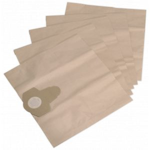 Sealey PC300PB5 Dust Collection Bag for PC300 Series Pack of 5-0