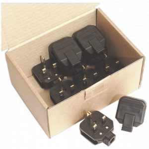 Sealey PL/13/3 Rubber Plug 13Amp Extra Heavy-Duty Pack of 10-0