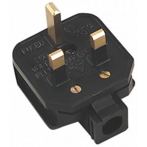 Sealey PL/13/3S Rubber Plug 13Amp Extra Heavy-Duty-0