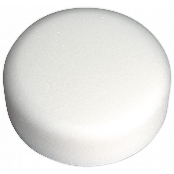Sealey PTCCHV150W Buffing & Polishing Foam Head Hook-and-Loop Ø150 x 50mm White/Dense-0