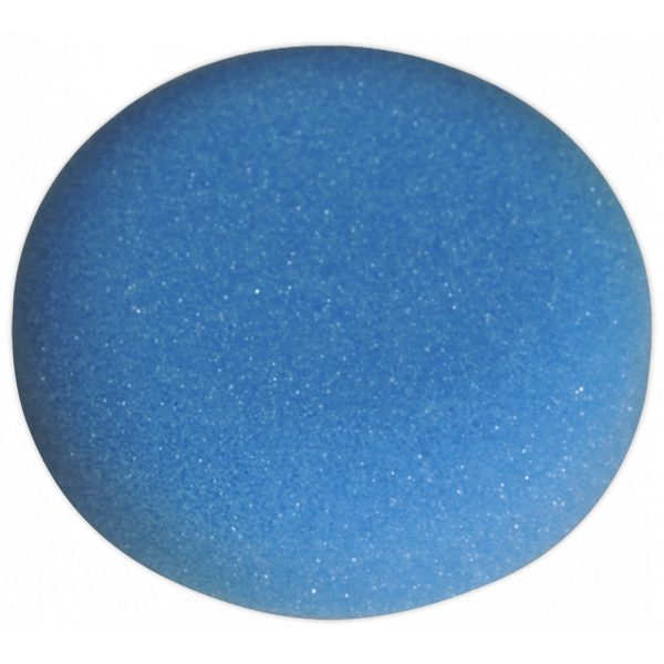 Sealey PTCCHV79B Buffing & Polishing Foam Head Hook-and-Loop Ø80 x 25mm Blue/Medium-0