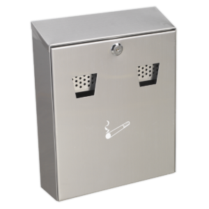 Sealey RCB02 Cigarette Bin Wall Mounting Stainless Steel-0