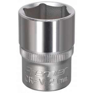 "Sealey S1221 WallDrive® Socket 21mm 1/2""Sq Drive-0"
